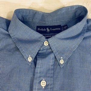 Polo by Ralph Lauren Shirts - Polo Ralph Lauren Blue & White Gingham Shirt 2XB